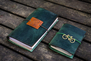 Traveler's Notebook Leather Cover-Crazy Horse Forest Green-Galen Leather