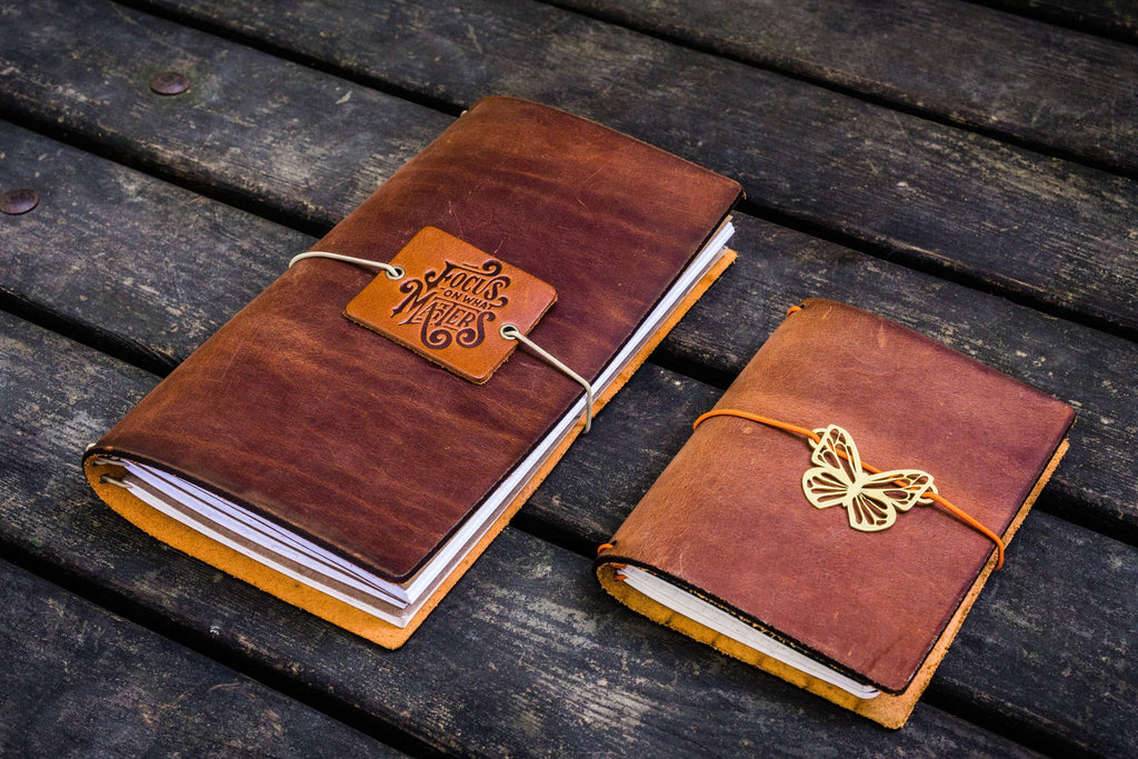 Traveler's Notebook Leather Cover-Crazy Horse Tan-Galen Leather