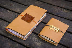 Traveler's Notebook Leather Cover-Natural-Galen Leather