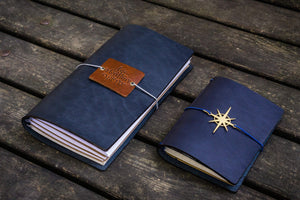 Traveler's Notebook Leather Cover - Navy Blue-Galen Leather