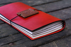 Traveler's Notebook Leather Cover-Red-Galen Leather