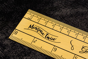 Vintage Inspired Brass Ruler - Imperial & Metric Measurements-Galen Leather