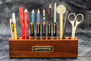 Wood Desk Organizer - Pen and Tool Holder