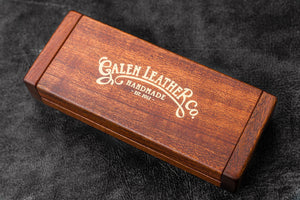 Wooden Pen Display Case with Lid-Galen Leather