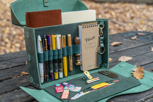 Writer's Medic Bag - Crazy Horse Forest Green-Galen Leather