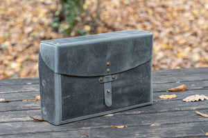 Writer's Medic Bag - Crazy Horse Smoky-Galen Leather