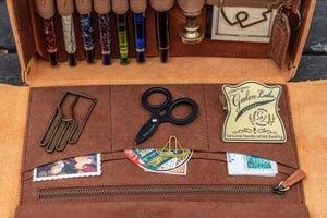 Handmade Leather Writing Kit Bag from Galen Leather