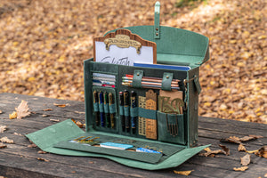 Writer's Medic Bag - XLarge Crazy Horse Forest Green-Galen Leather