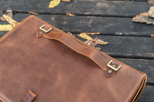 Writer's Medic Bag XLarge - Crazy Horse Tan-Galen Leather
