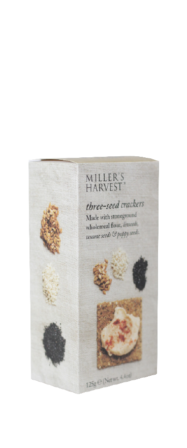Artisan Biscuits Miller's Harvest Three Seed Crackers 125g - Wine Central