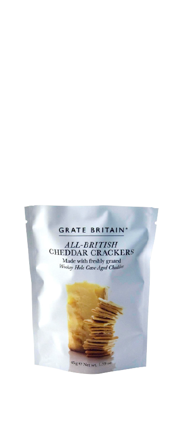 Artisan Biscuits Grate Britain Cheddar Cracker Pouch 125g - Wine Central