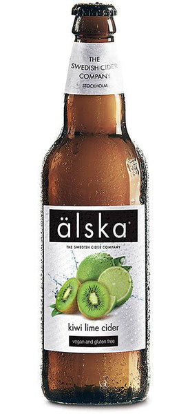 12 Bottle Case of Alska Kiwi Lime Cider (500ML)