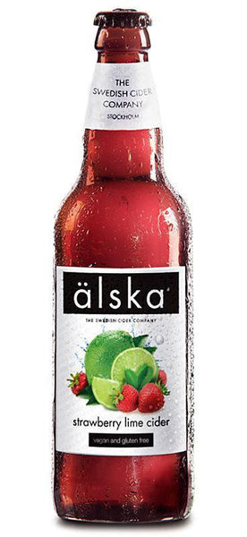 12 Bottle Case of Alska Strawberry Lime Cider (500ML)