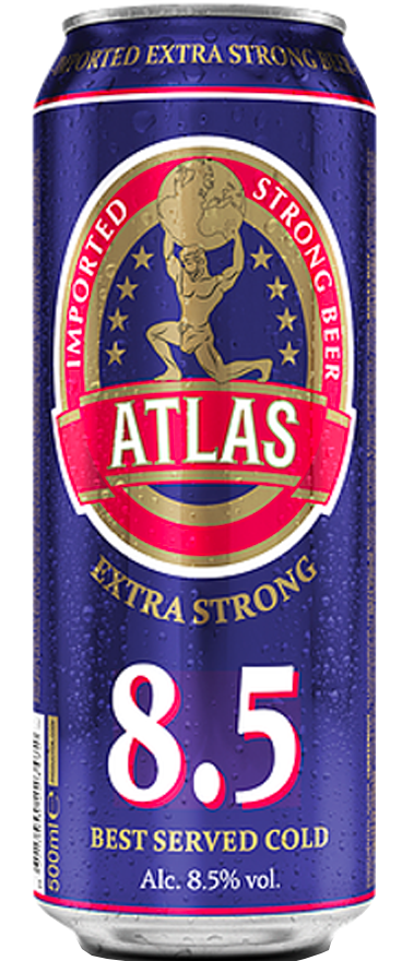 24 Cans of Atlas Extra Strong Beer (24x 500ml Cans) BB:02.11.18