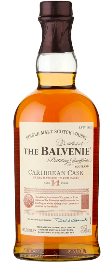 The Balvenie 14 Year Old Caribbean Cask 700ml - Wine Central