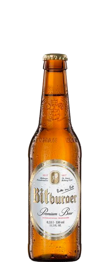 Bitburger Premium Pils 0% Alcohol (24x 330ml Bottles)