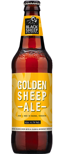 8 Bottles of Black Sheep Golden Sheep Ale (8x 500ml Bottles) BB:02.08.19