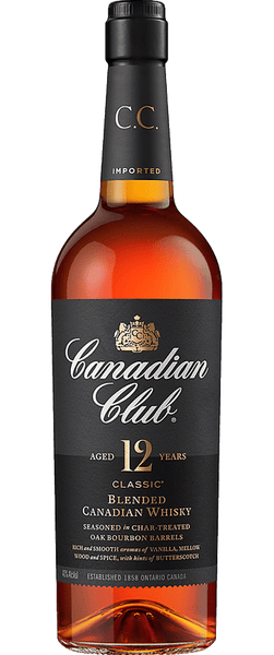 Canadian Club Classic 12 Year Old Whiskey (700ml)