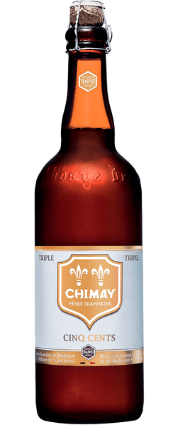 Chimay White Trappist Ale Cing Cents 750ml BB: 12.18