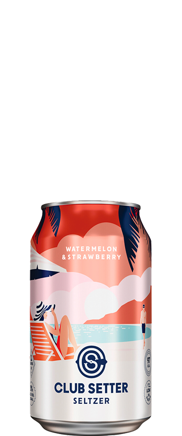 Club Setter Watermelon & Strawberry Seltzer (10x 330ml Cans) - Wine Central
