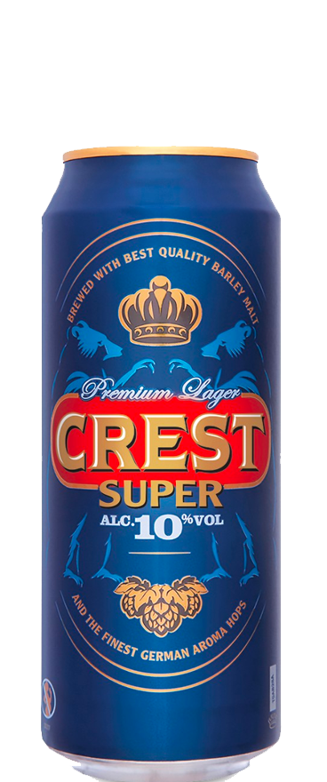 Crest Super Premium Lager 500ml Can BB:30.06.20