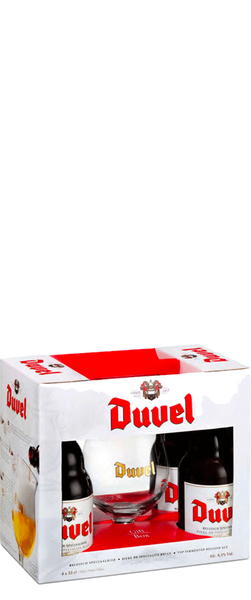 Duvel Gift Pack (4 Bottles & 1 Glass)