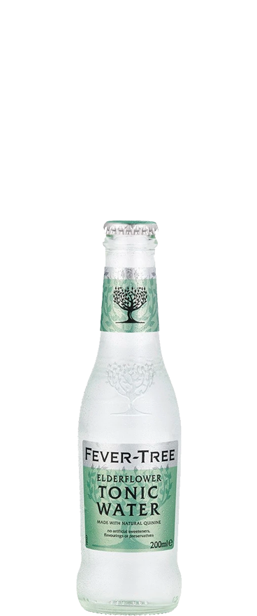 Fever Tree Premium Elderflower Tonic Water (4x 200ml Bottles) - Wine Central
