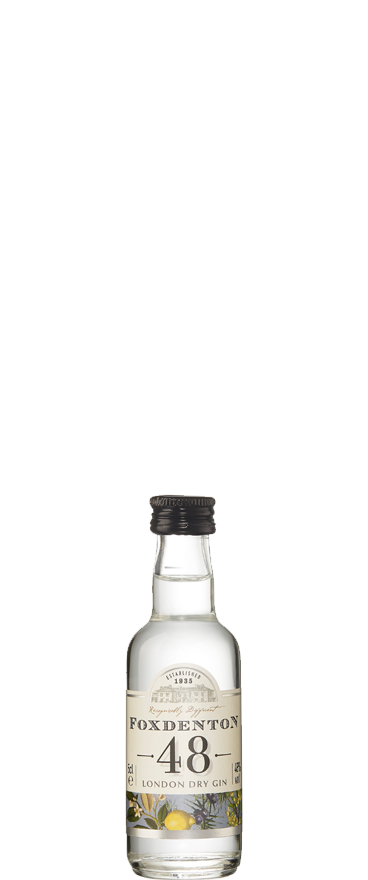 Foxdenton 48 London Dry Gin 50ml Miniature