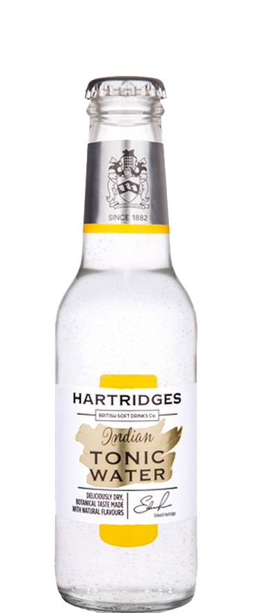 Hartridges Premium Indian Tonic Water 4x 200ml Bottles
