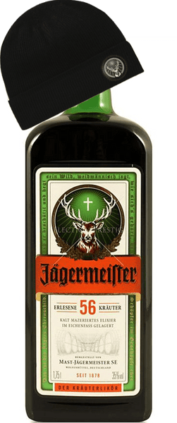 Jagermeister with beanie (1000ml)