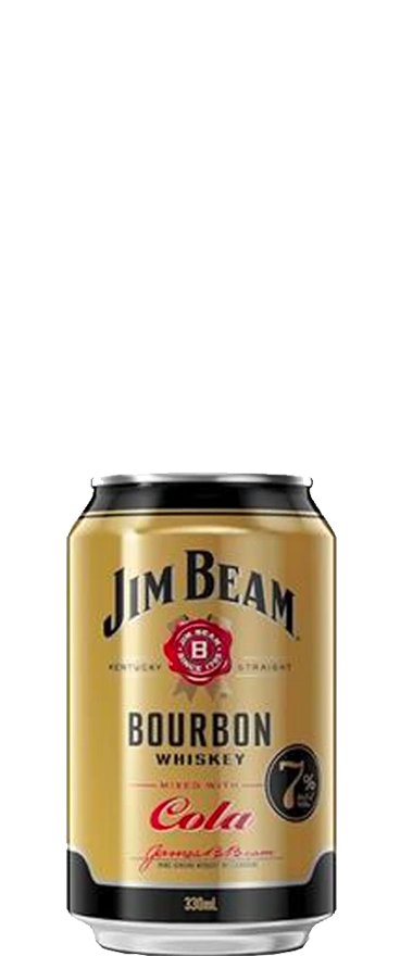 Jim Beam Gold and Cola (6x 330ml Cans)