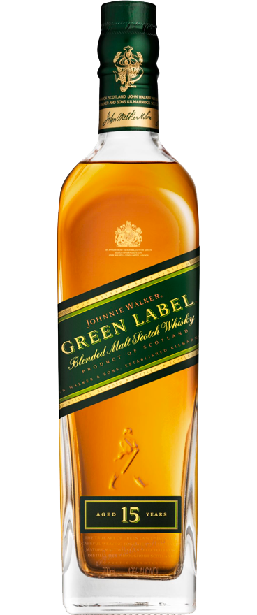 Johnnie Walker Green Label Blended Malt Scotch Whisky 15 Year Old 700ml