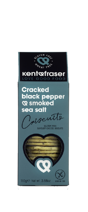 Kent & Fraser Cracked Pepper & Smoked Sea Salt Savory Biscuit 110g - Wine Central