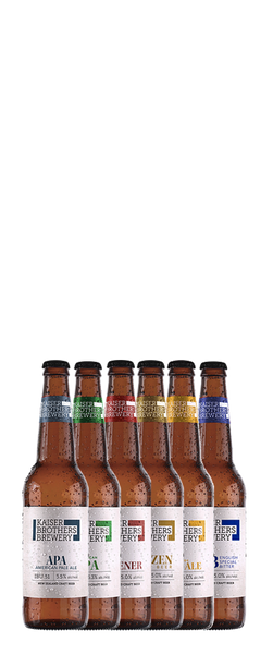 6 Bottle Kaiser Brothers Brewery Sampler Pack (6x 500ml Bottles)