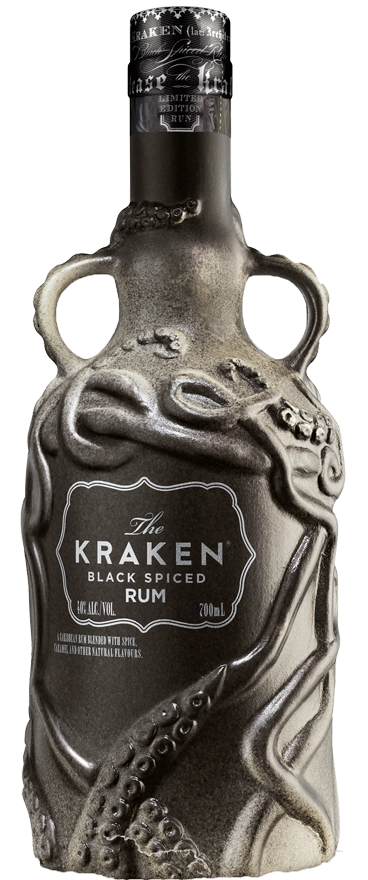 Kraken Spiced Black Rum Matte Grey Ceramic Limited Edition 700ml