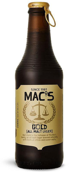 6 Bottles of Mac's Gold (6x 330ml)