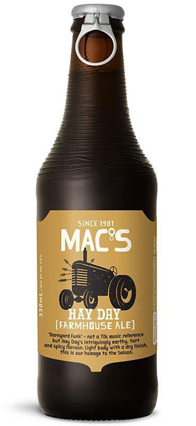 4 Bottles of Mac's Hay Day Farmhouse Ale (4x 330ml)