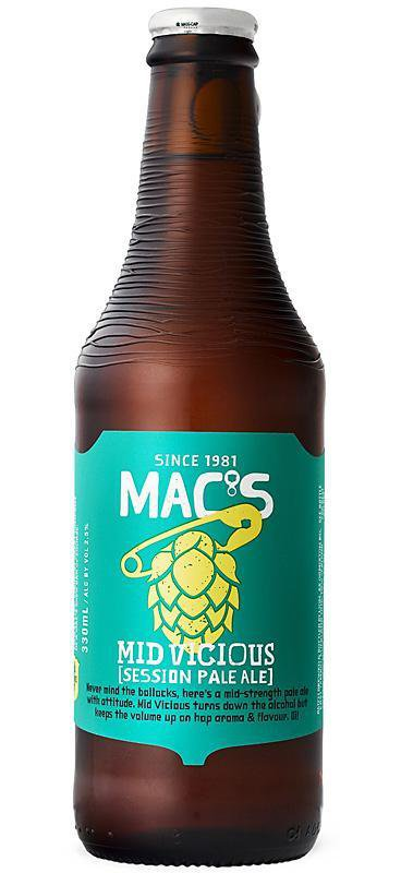 6 Bottles of Mac's Mid Viscious Session Pale Ale (6x 330ml)