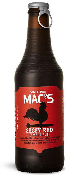 6 Bottles of Mac's Sassy Red Amber Ale (6 x 330ml)