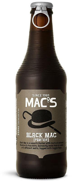 6 Bottles of Mac's Black Mac Porter (6x 330ml)