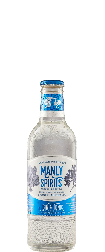 Manly Spirits Co. Gin and Tonic (4x 275ml Bottles)