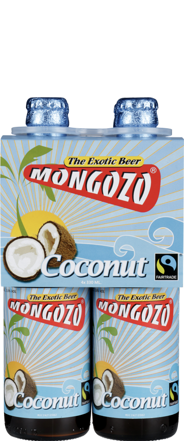 4 Bottles of Mongozo Coconut Beer (4x 330ml Bottles) BB:01.11.18