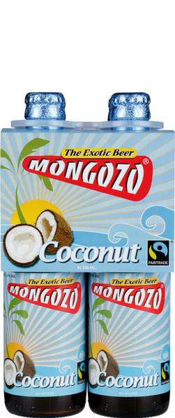 4 Bottles of Mongozo Coconut Beer (4x 330ml Bottles)