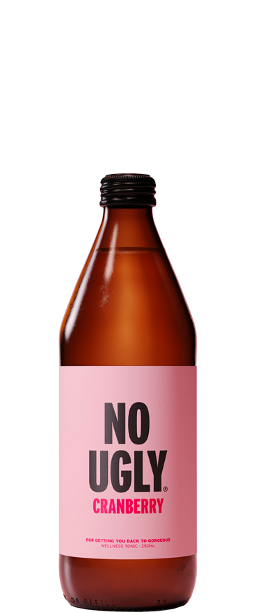 No Ugly Wellness Tonic Cranberry 250ml Bottle BB:28.10.20 - Wine Central