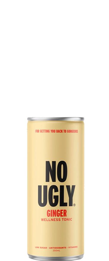 No Ugly Wellness Tonic Ginger (4x 250ml Cans) BB:12.02.21 - Wine Central