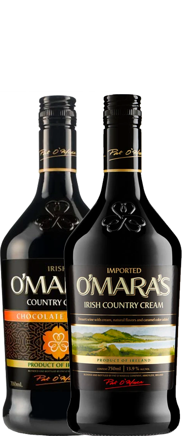 O'mara's Twin Pack - Classic + Chocolate Orange Cream Irish Cream (2x 700ml Bottles) - Wine Central