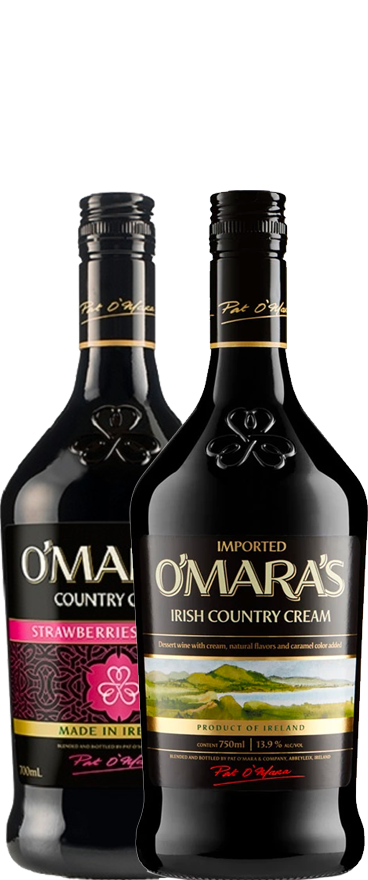 O'mara's Twin Pack - Classic + Strawberries & Cream Irish Cream (2x 700ml Bottles)