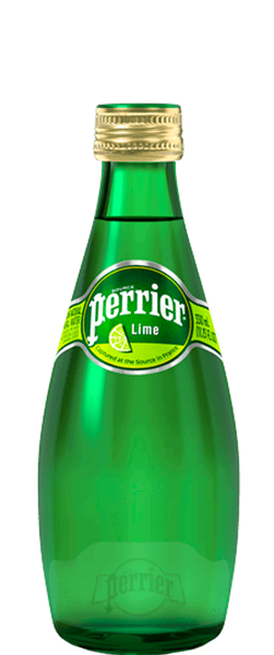 24 Bottles of Perrier Lime Sparkling Water (24x 330ml Bottles) BB:02.02.19