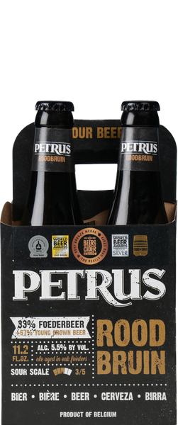 4 Bottles of Petrus Rood Bruin (4x 330ml Bottles)