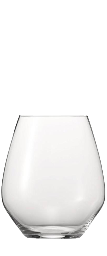 4x Spiegelau Authentis Casual Burgundy Stemless Wine Glasses